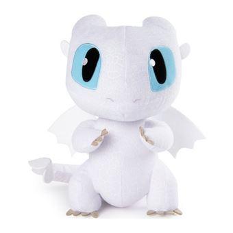 Peluche Sonore Dragons 3 Deluxe Light Fury 36 Cm Autre Figurine Ou Réplique Achat Prix Fnac