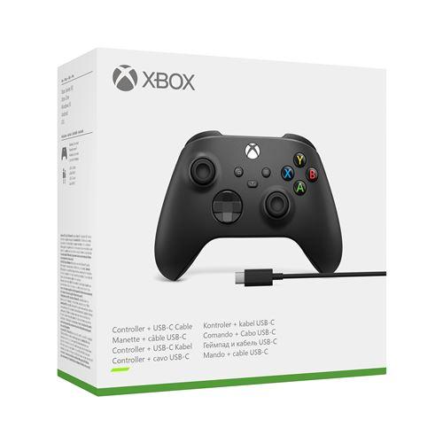 Manette Xbox avec câble pour PC Noir