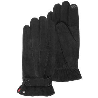 gants en cuir tactiles isotoner noirs homme taille m 8 5. Black Bedroom Furniture Sets. Home Design Ideas