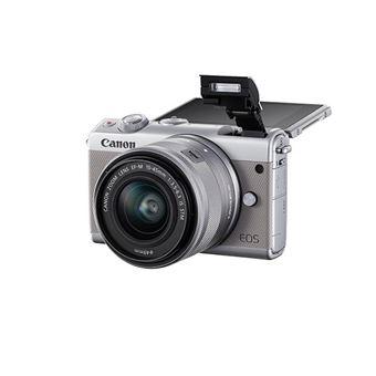 a84dd0f7f4f663 Hybride Canon EOS M100 Blanc + Objectif EF-M 15-45 mm f 3.5-6.3 IS STM +  Etui + Carte mémoire SD 16 Go - Appareil photo hybride - Achat   prix   fnac