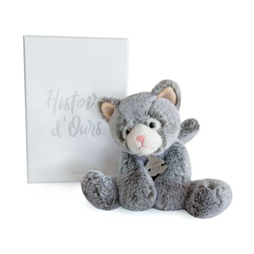 Peluche Histoire d'Ours Sweety Mousse Chat 25 cm Gris