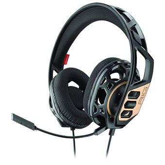 Micro-casque Gaming Plantronics RIG 300 Noir et Or