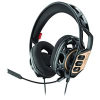 Micro-casque Gaming Plantronics RIG 300 Noir et Or