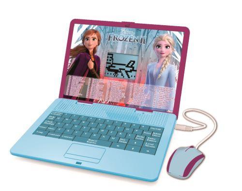 Ordinateur portable éducatif bilingue Lexibook Disney Frozen La Reine des Neiges 120 activités anglais et français Modèle aléatoire
