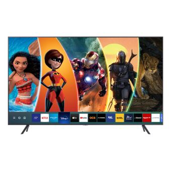 "TV Samsung UE55TU7125 4K UHD Smart TV 55"" application Disney+ disponible Argent Carbone"