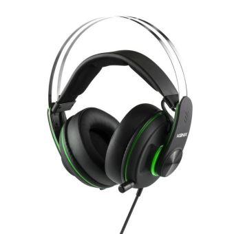 Micro-casque filaire Gaming Konix Mythics MS-600 Noir et Vert pour Xbox One