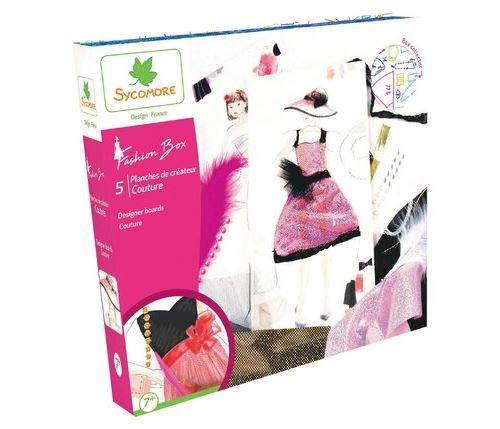 Kit créatif Au Sycomore 5 planches de stylisme couture