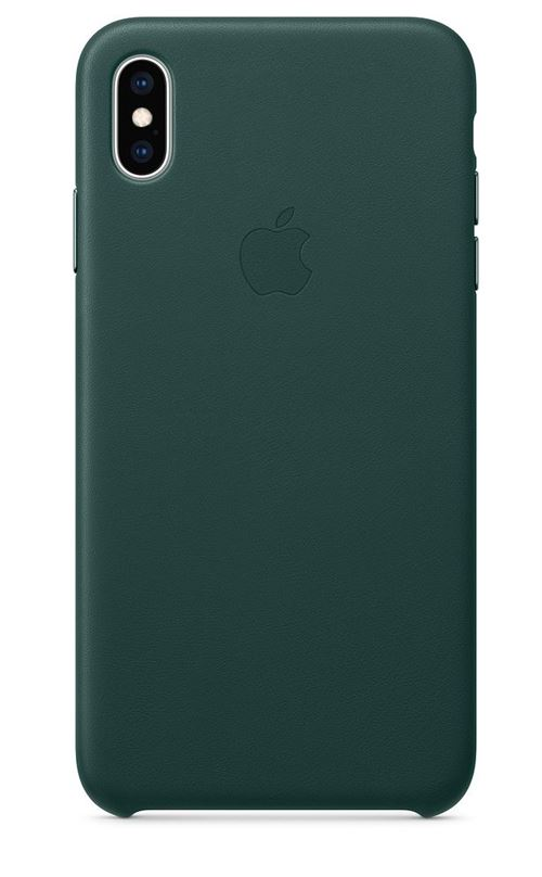 Coque en cuir Apple Vert foret pour iPhone XS Max