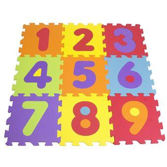 tapis puzzle en mousse de 9 pieces tatamiz chiffres