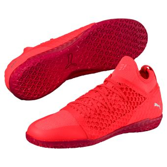 separation shoes 72e93 846cf Chaussures de football Puma 365 Ignite Netfit CT Noires et rouges Taille 45