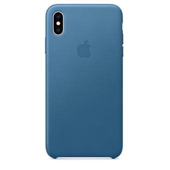 Coque en cuir Apple Bleu Cape Cod pour iPhone XS Max