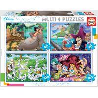 Puzzle Educe Classiques Disney Multi 4 en 1