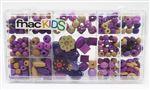 Set de perles en bois Fnac Kids Violet