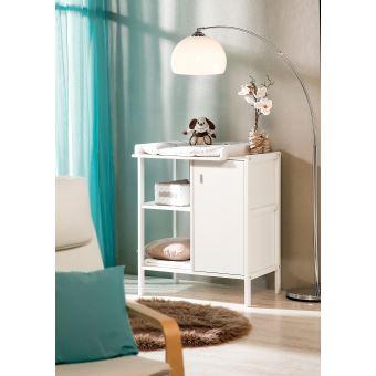 meuble langer avec porte et tagre en bois geuther robby blanc produits bbs fnac