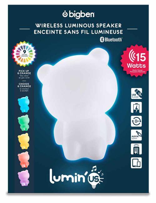 Laissez vous attendrir par les enceintes Bluetooth® « Luminus ». Pour les petits, comme pour les grands, ce speaker sans fil apportera gaieté et couleur dans votre intérieur !