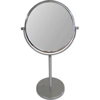 Miroir sur pied Okoia grossissant JM803 17 cm Argent