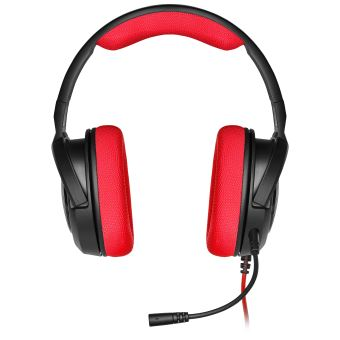 CORSAIR - HS35 STEREO GAMING HEADSET 3.5MM JACK RED  MULTI
