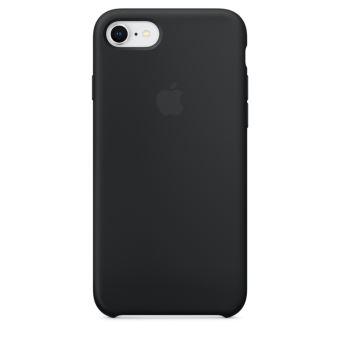 Coque en silicone Apple Noire pour iPhone 8 et iPhone 7