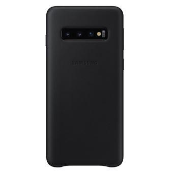 Coque en cuir Samsung Noir pour Galaxy S10