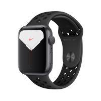 Nike Watch Series 5 GPS 44 mm verzegelde grijze aluminium behuizing met Nike sportriem zwart en antraciet S / M en M / L maten