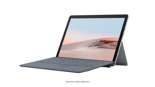 PC Hybride Microsoft Surface Go 2 10,5'' Tactile Intel Pentium Gold 8Go RAM 128Go SSD Platine