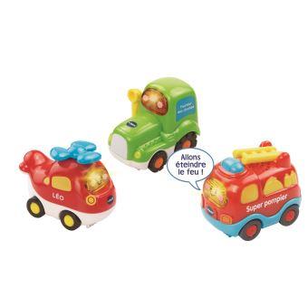 Vtech - Tut Tut Bolides - Coffret trio n° 2 (pompiers + ambulance + citadine)