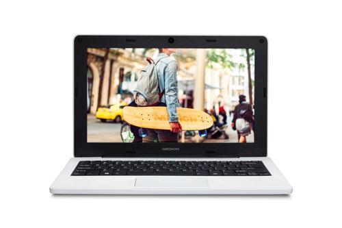 "PC Ultra Portable Medion E11201 Notebook 11.6"" Intel Celeron 4 Go RAM 64 Go eMMC Blanc"