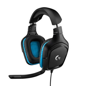 Micro-casque Gaming Logitech G432 7.1 Noir avec Son Surround 7.1