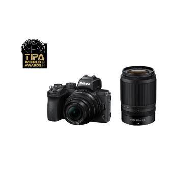 Nikon Z50 Hybride Camera Zwart + Nikkor Z DX 16-50mm Lens + Nikkor Z DX 50-250mm Lens