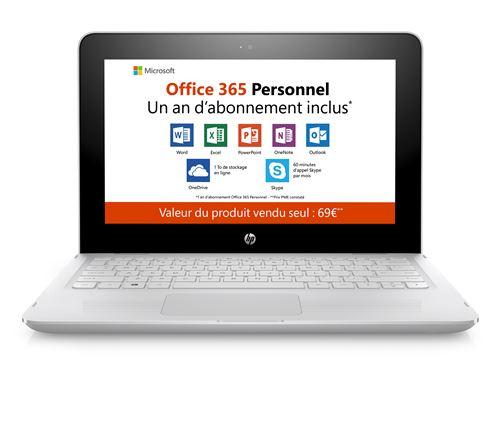 PC Hybride HP Stream x360 Convertible 11-ab014nf 11.6 Tactile + Office 365 Personnel 1 an dabonnemen