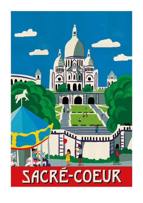Affiche Sergeant Paper Sacre Cœur 50x70 cm Edition limitée signée