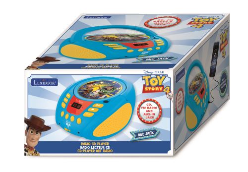 Radio Lecteur CD Lexibook Disney Toy Story Buzz & Woddy RCD108TS