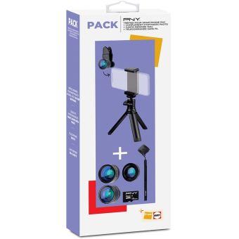 Fnac Pack PNY Statief + Optisch Complement + MicroSD-Geheugenkaart 16GB + Draadloze Afstandsbediening