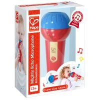Microphone à résonnance en bois Hape Rouge et Bleu
