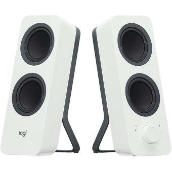 2 enceintes Bluetooth Logitech Z207 Blanches