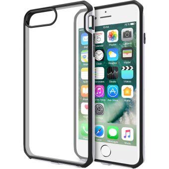 Coque rigide Itskins Venum Transparente avec contour noir et argentee pour iPhone 6 6s 7 et 8