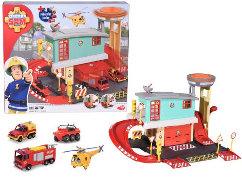 Centre de secours Dickie Sam le Pompier et 4 véhicules