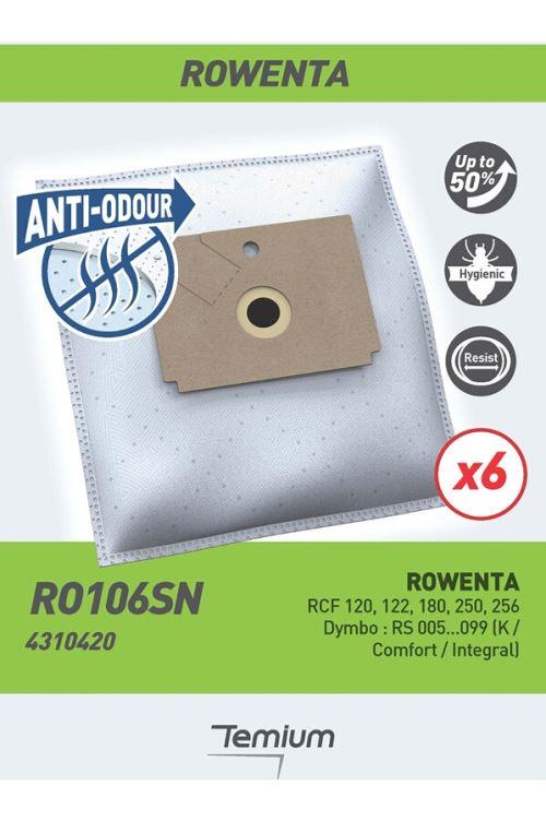 Sac aspirateur Temium anti-odeur RO106SN