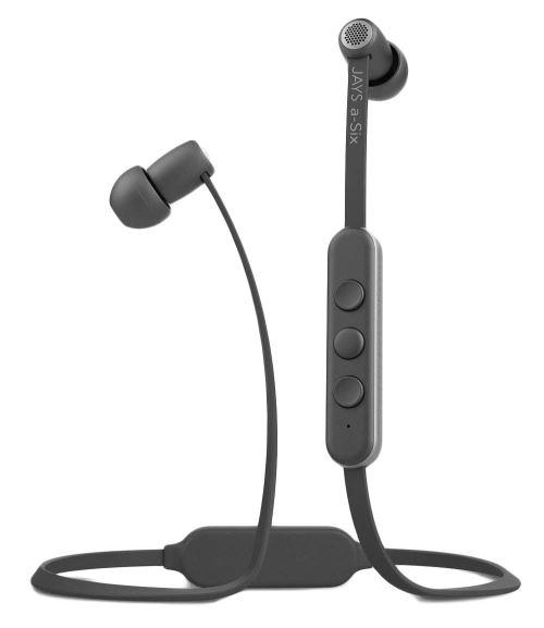 Ecouteurs intra-auriculaires Jays a-Six Bluetooth Gris et Argent
