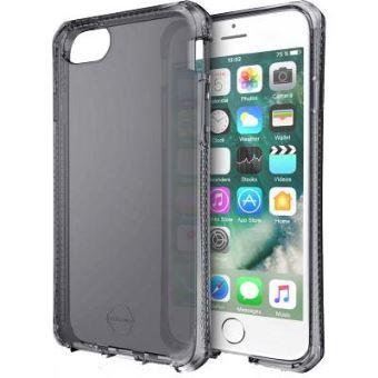 Coque semi rigide Itskins Noire translucide pour iPhone 6 Plus 7 Plus et 8 Plus