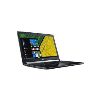 "Acer Aspire 5 A517-51-59H6 - Core i5 7200U / 2.5 GHz - Win 10 Home 64 bits - 4 GB RAM - 1 TB HDD - DVD-brander - 17.3"" 1600 x 900 (HD+) - HD Graphics 620 - Wi-Fi - obsidiaans zwart - tsb Frans"