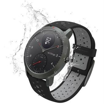 montre connect e hybride withings steel hr sport 40 mm noir montre connect e achat prix fnac. Black Bedroom Furniture Sets. Home Design Ideas