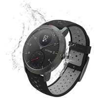 Montre connectée hybride Withings Steel HR Sport 40 mm Noir
