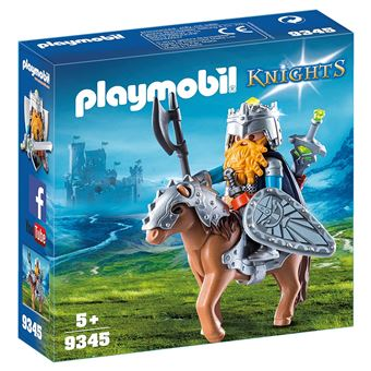 Playmobil Knights Les combattants nains 9345 Combattant nain et poney