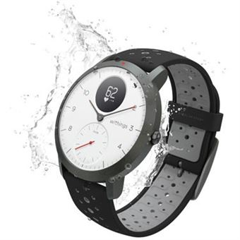 Montre connectée hybride Withings Steel HR Sport 40 mm Blanc