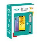 Pack Fnac Smartphone Wiko View2 Double SIM 32 Go Cosmos + Protection d'écran en verre trempe + Coque de protection