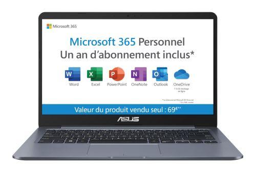 PC Ultra-Portable Asus E406SA-BV265TS 14 Intel Celeron 4 Go RAM 64 Go eMMC