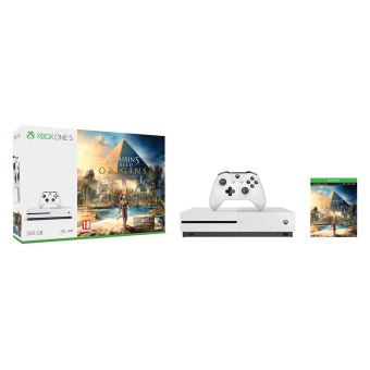 Pack Console Microsoft Xbox One S 500 Go + Assassins's Creed Origins