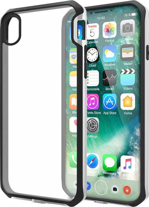 Coque rigide Itskins Venum Transparente avec contour noir et argentée pour iPhone X