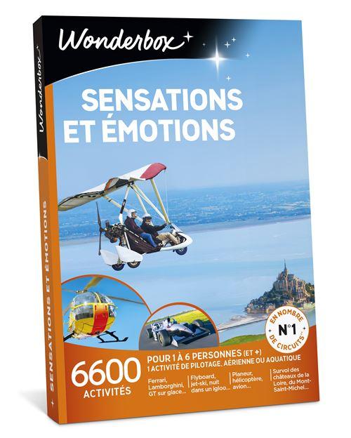 Coffret cadeau Wonderbox Sensations et émotions
